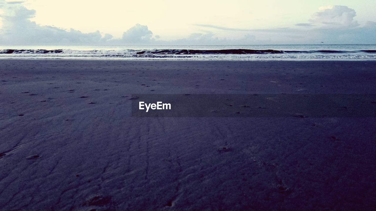 beach, land, sea, sky, scenics - nature, water, beauty in nature, tranquility, tranquil scene, nature, sand, cloud - sky, no people, horizon, day, horizon over water, outdoors, non-urban scene, idyllic, surface level