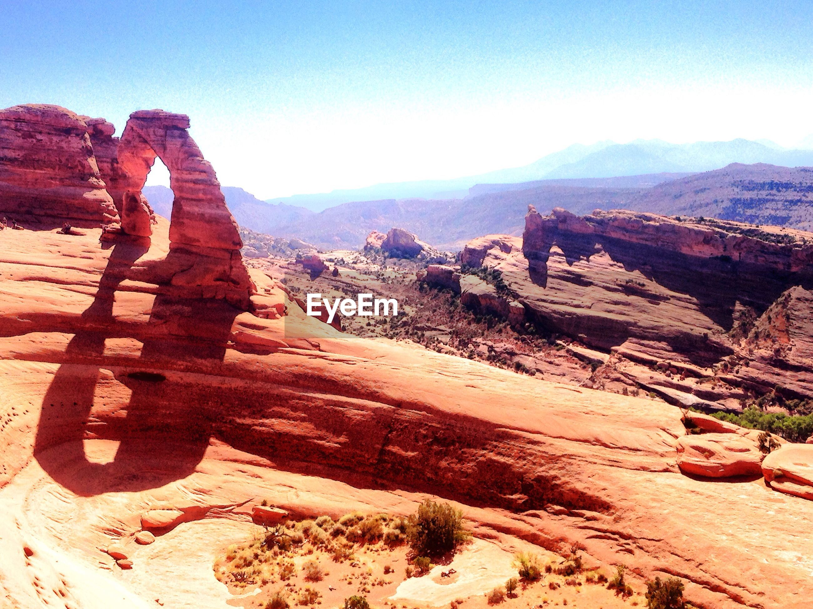View of arches national park