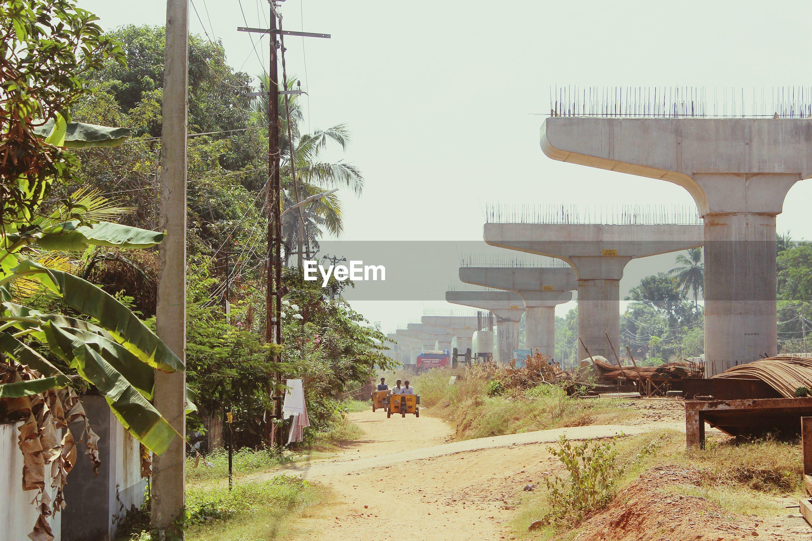 BRIDGE BY TREES AGAINST SKY