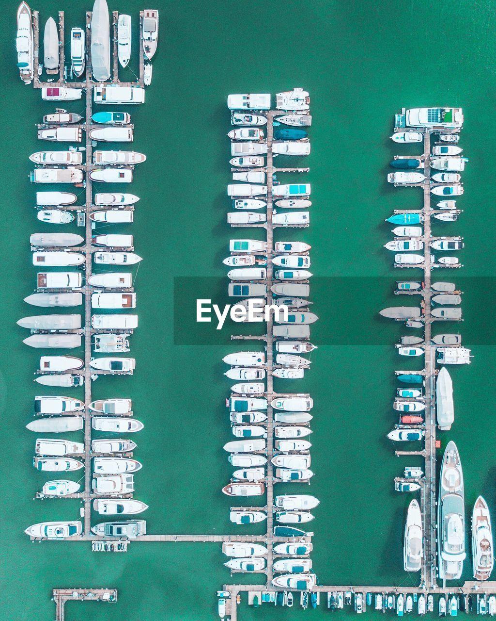 Aerial Shot Of Harbor