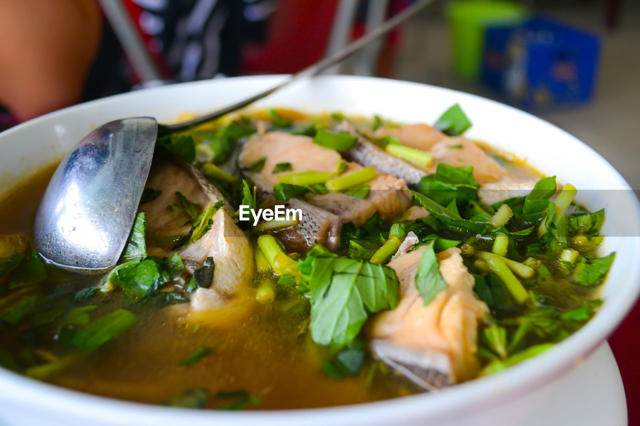 food and drink, food, bowl, freshness, close-up, ready-to-eat, indoors, serving size, plate, healthy eating, soup, selective focus, table, no people, day