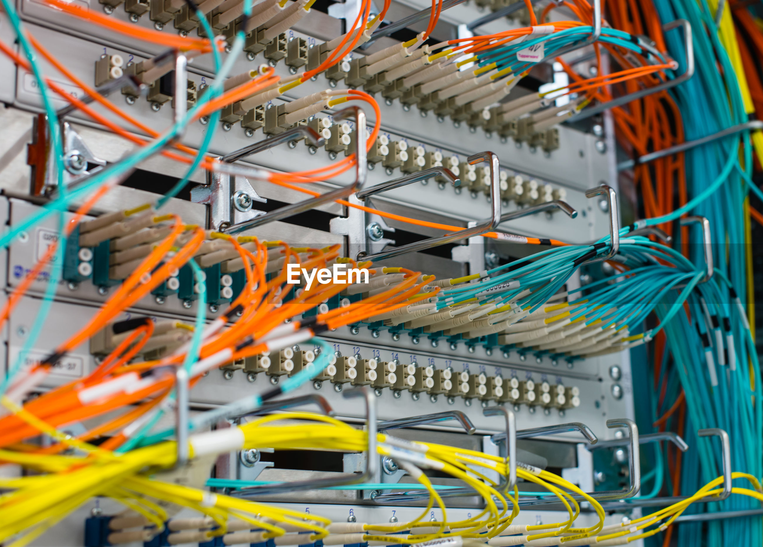 Close-up of computer cables