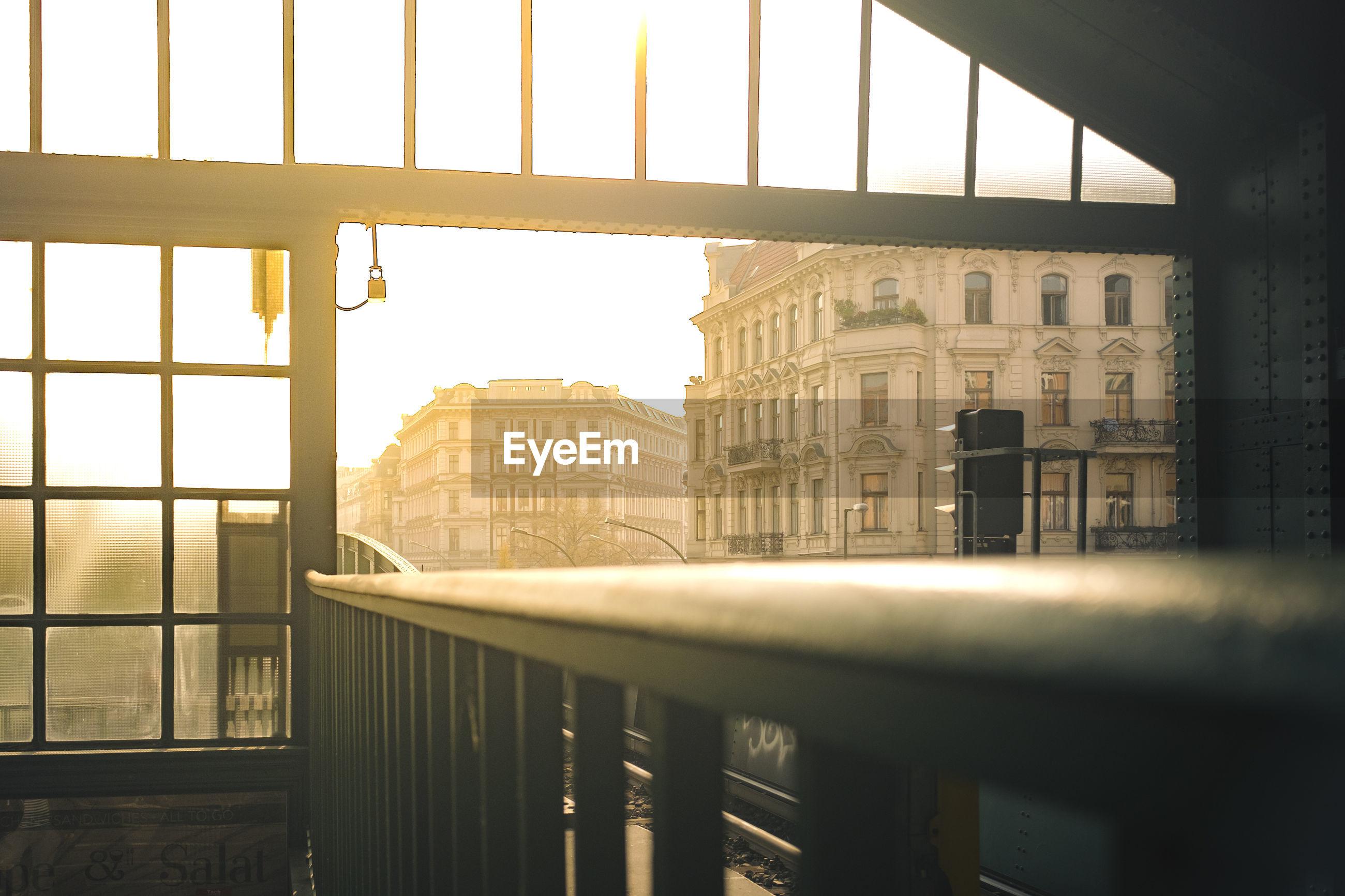 Buildings in city seen from eberswalder station
