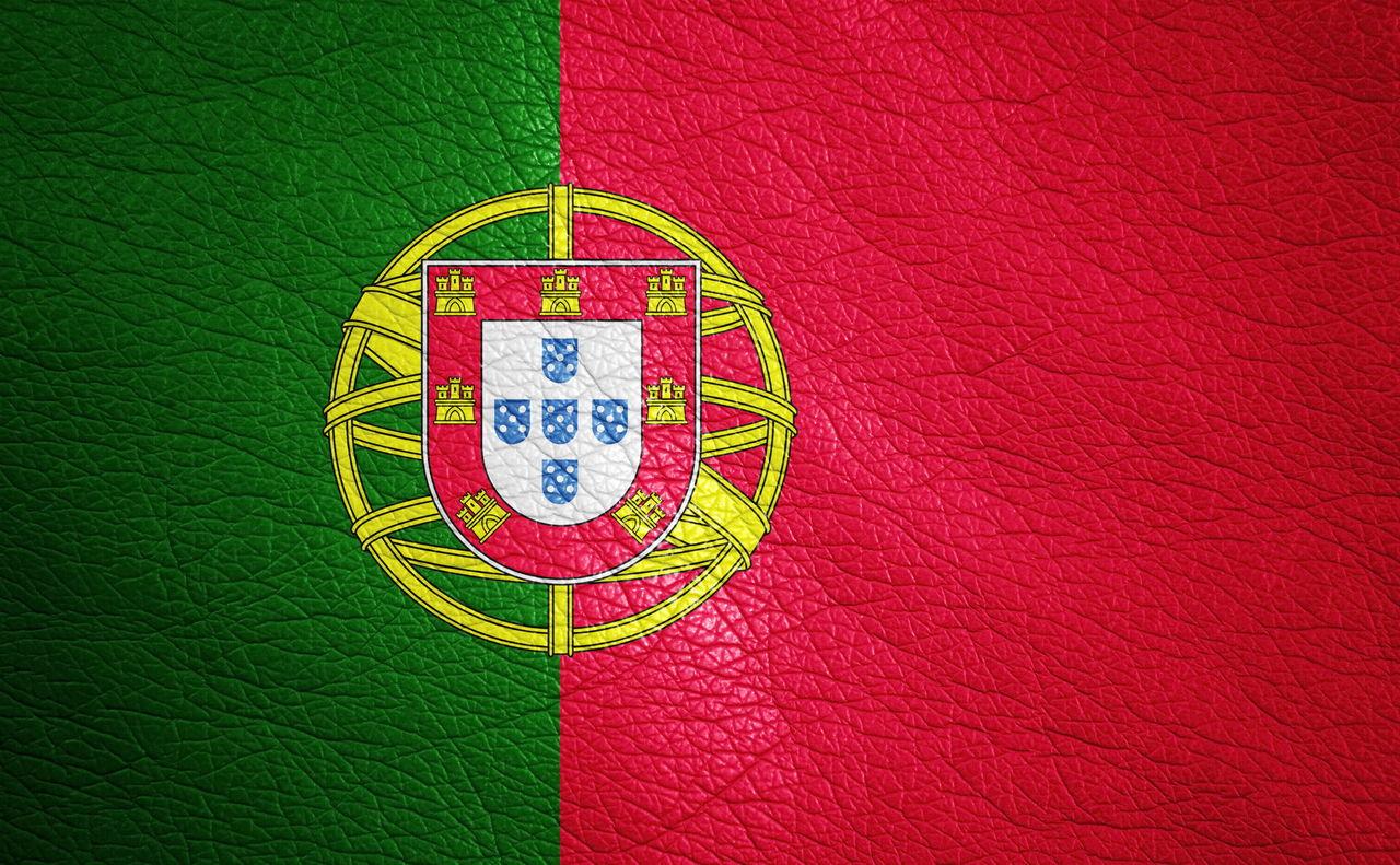 Full Frame Shot Of Portuguese Flag