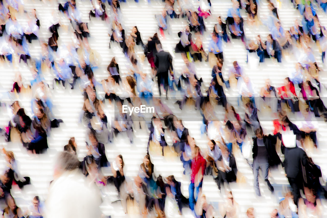 Abstract Image Of People At Steps