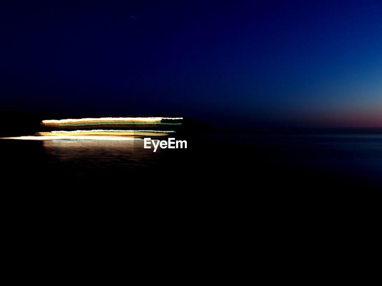 VIEW OF SEA AT NIGHT