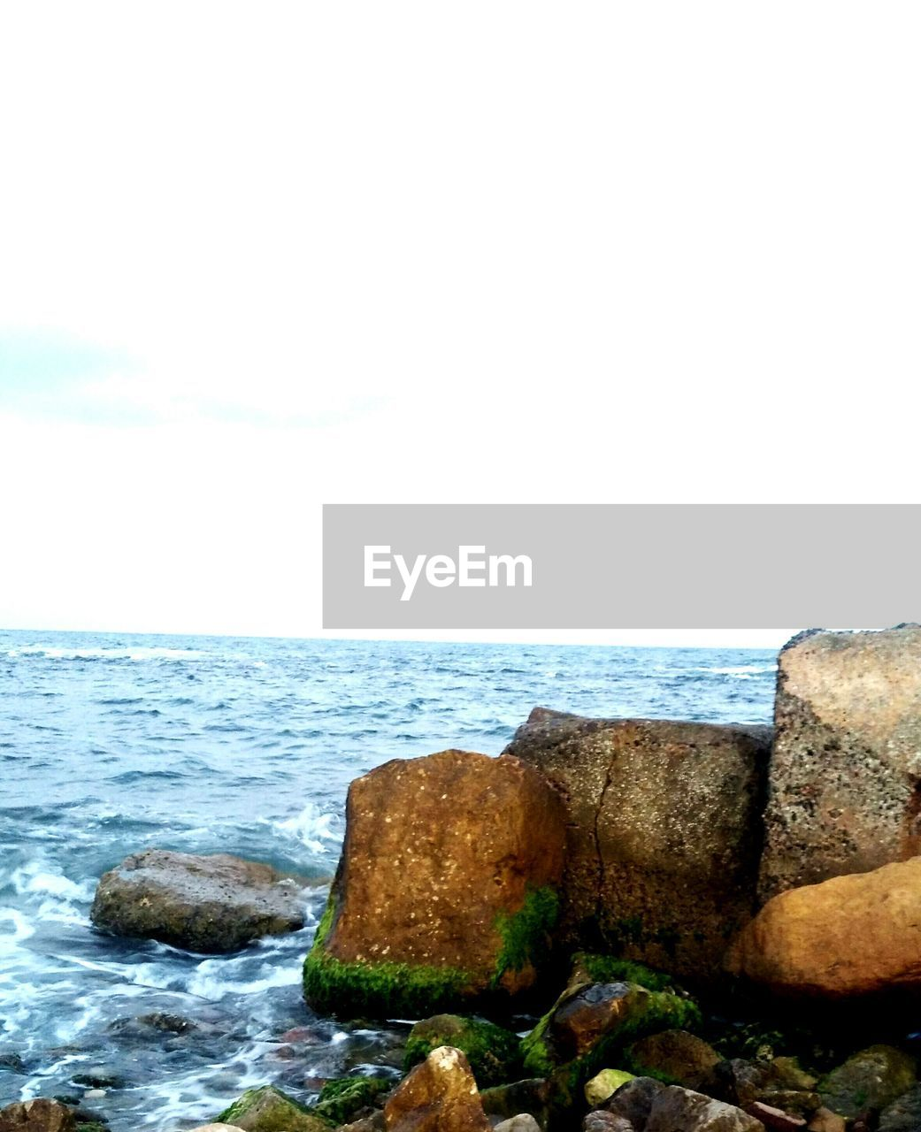 sea, horizon over water, water, nature, rock - object, beauty in nature, no people, scenics, sky, outdoors, day, tranquility, clear sky, wave