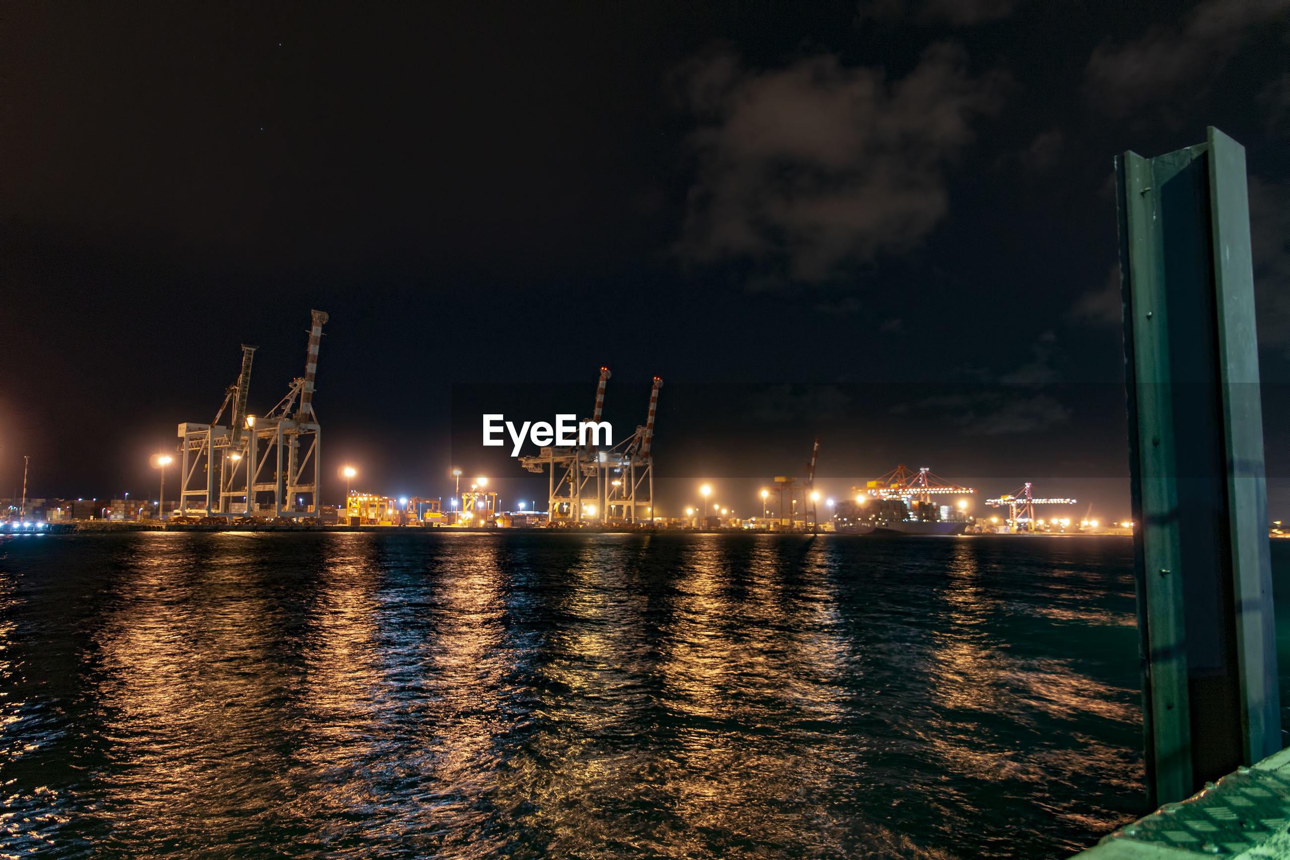Fremantle port at night