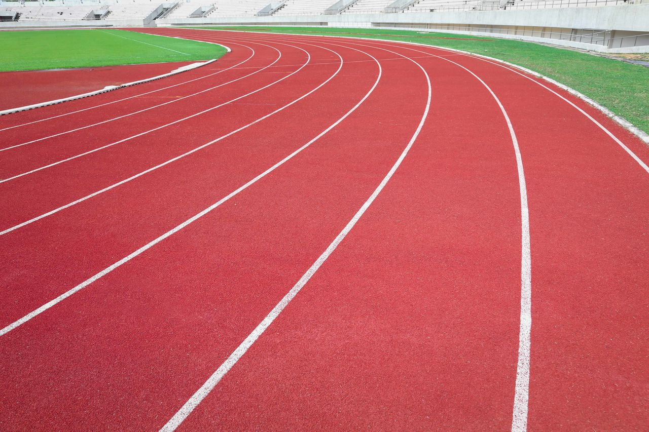 View of empty running track