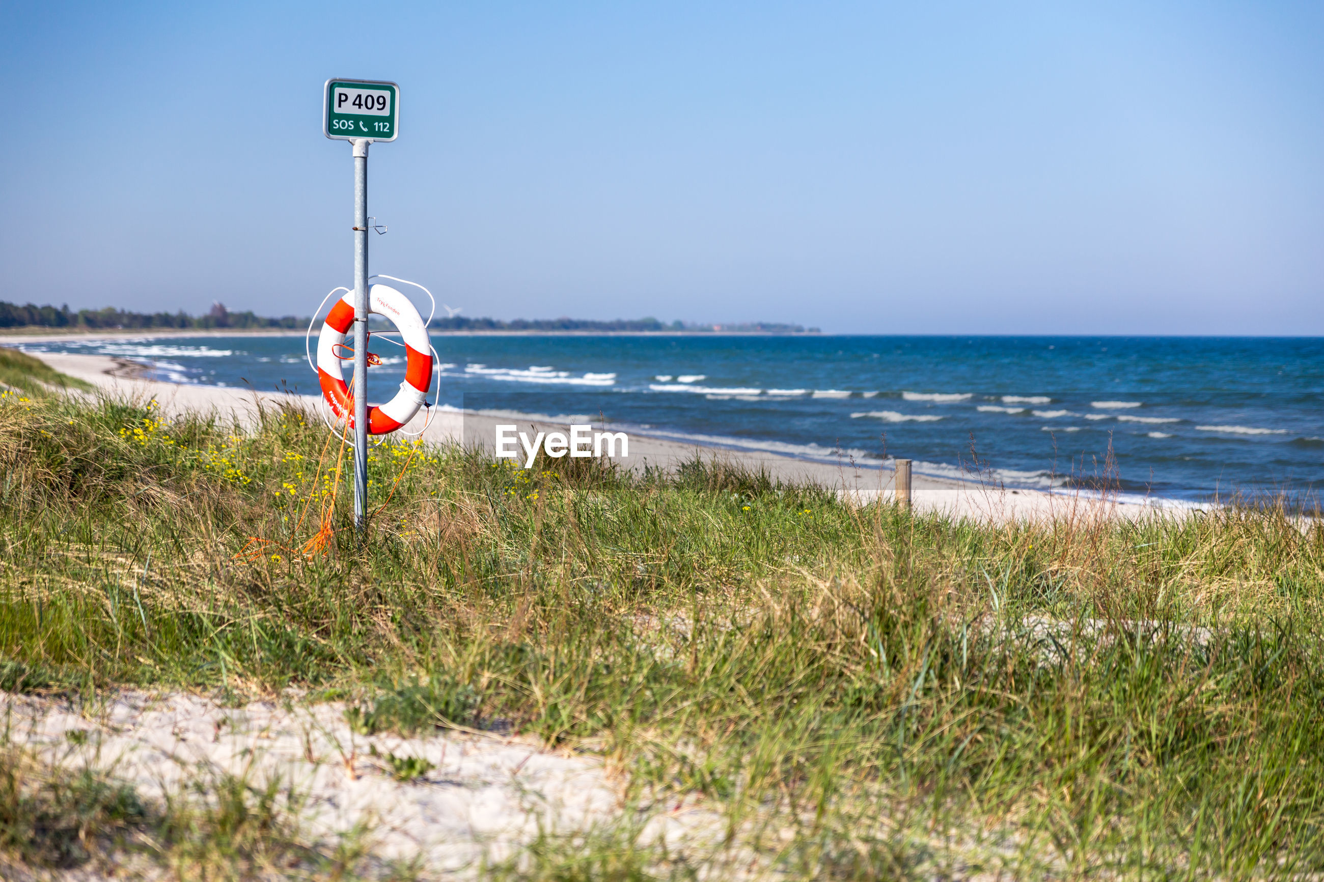 VIEW OF STOP SIGN ON BEACH