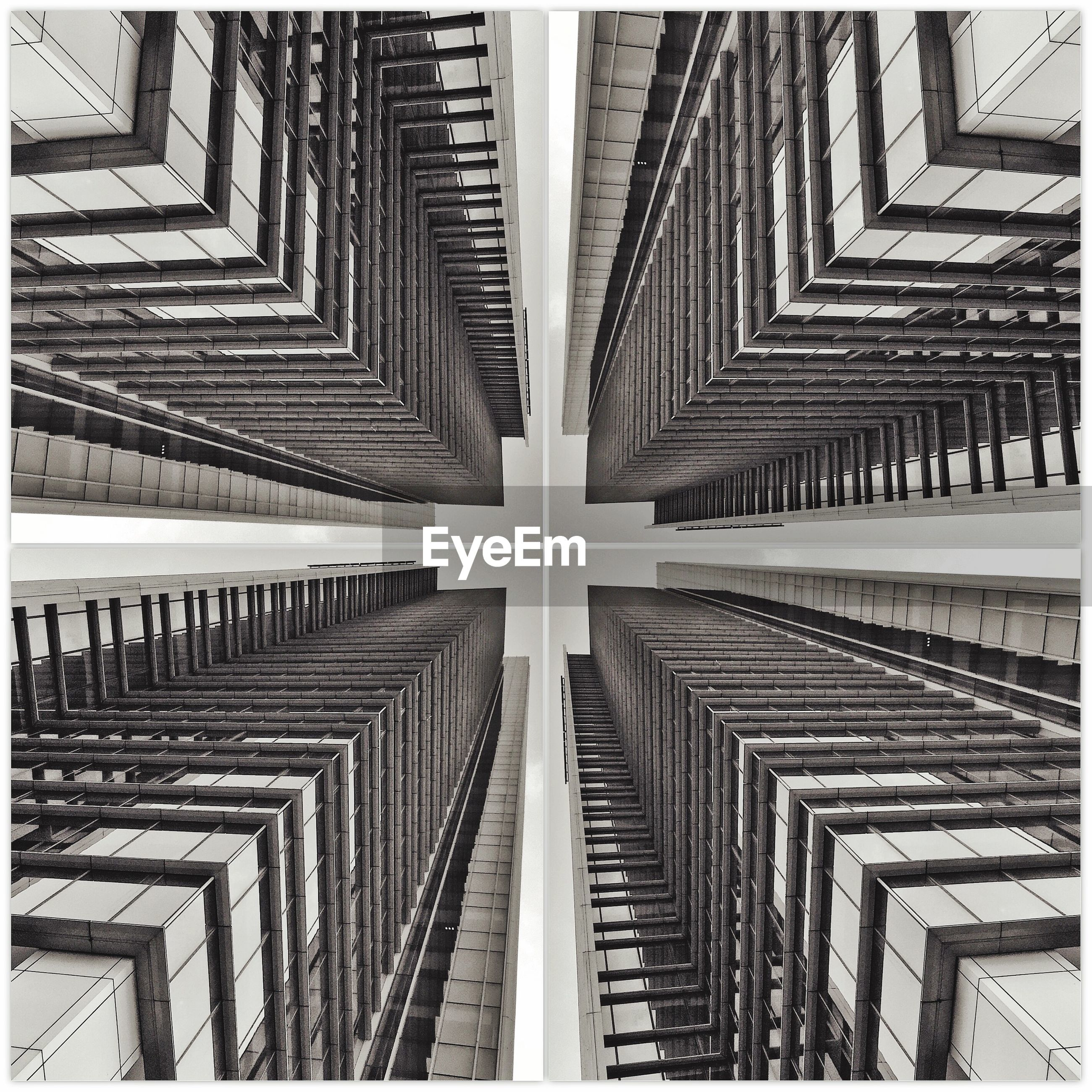 Digital composite of buildings in city