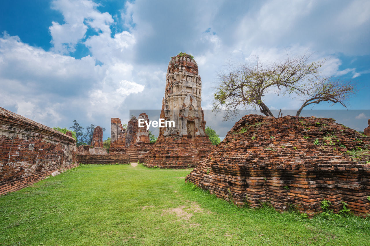 architecture, history, the past, built structure, ancient, sky, cloud - sky, religion, travel destinations, plant, grass, old, nature, place of worship, travel, belief, old ruin, ancient civilization, tourism, no people, ruined, archaeology