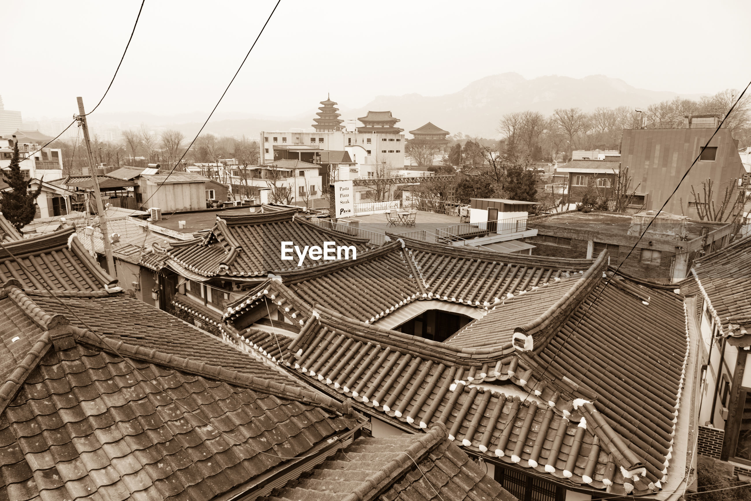 HIGH ANGLE VIEW OF BUILDINGS