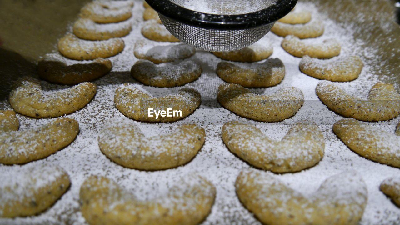 Close-Up Of Cookies With Vanilla Sugar