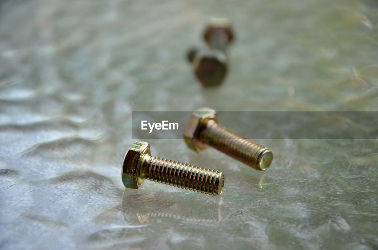Close-Up Of Nut Bolts