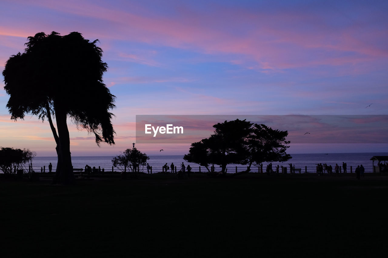 sky, sunset, silhouette, beauty in nature, scenics - nature, tree, water, beach, tranquil scene, sea, tranquility, land, nature, cloud - sky, tropical climate, palm tree, plant, orange color, idyllic, outdoors, no people, horizon over water