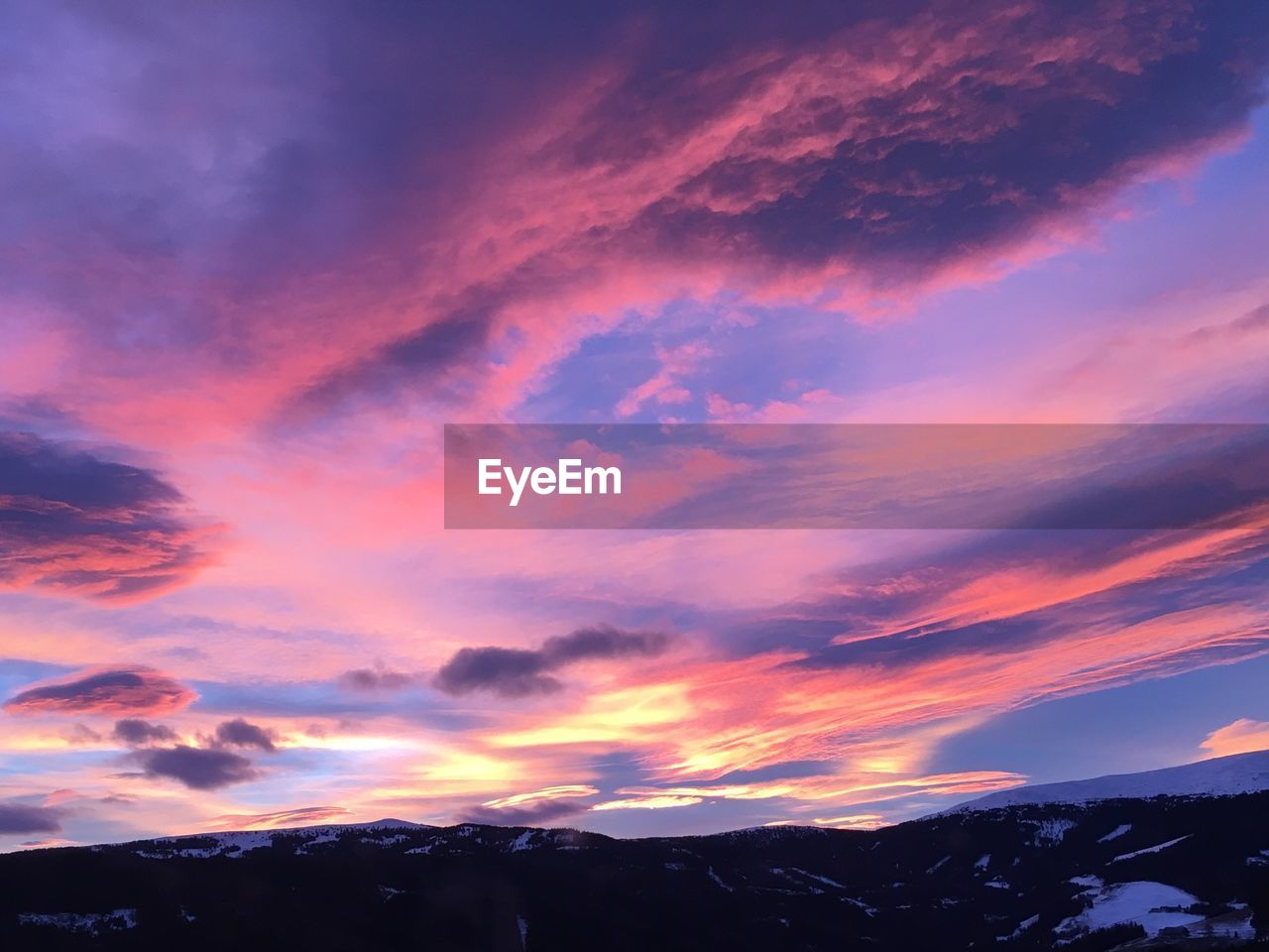 sky, cloud - sky, beauty in nature, scenics - nature, sunset, tranquil scene, tranquility, mountain, nature, no people, idyllic, non-urban scene, orange color, silhouette, environment, landscape, dramatic sky, outdoors, low angle view, mountain range