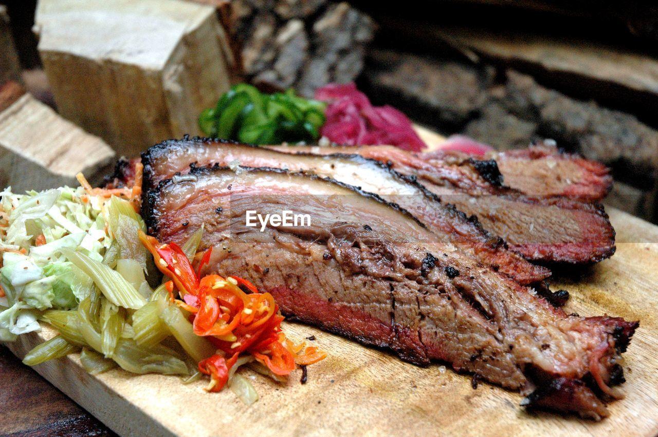 Close-up of beef brisket