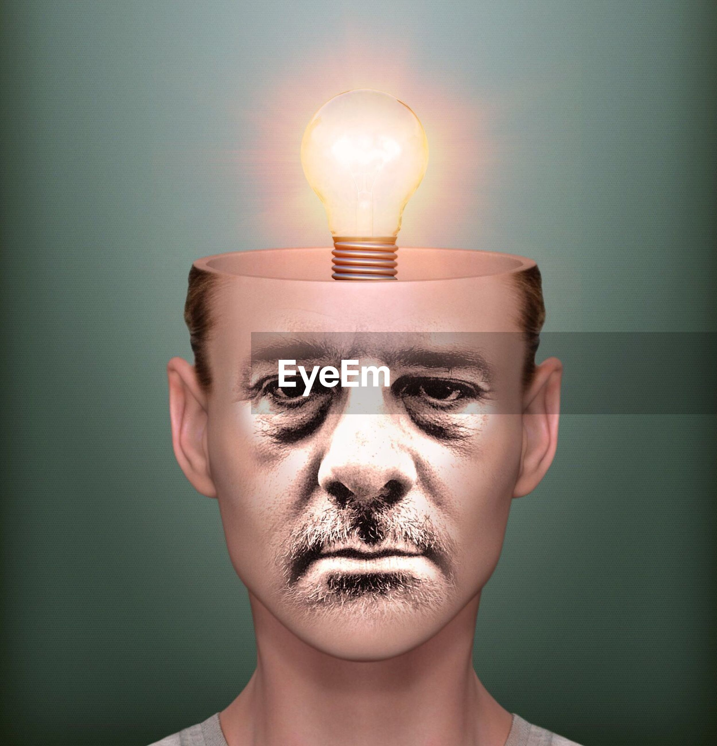 human body part, innovation, lighting equipment, human face, power supply, electricity, change, light bulb, adults only, adult, close-up, people, young adult