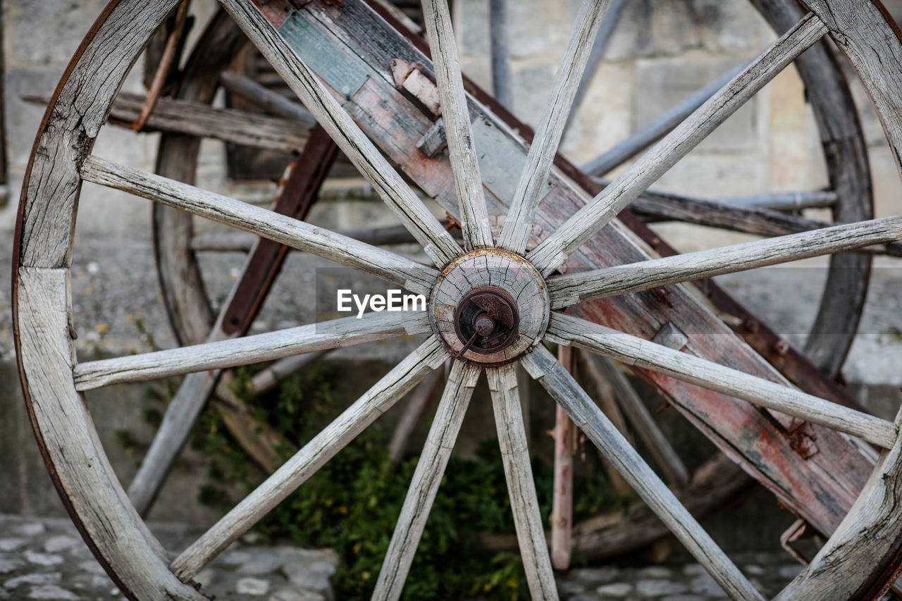 Close-Up Of Old Wheel