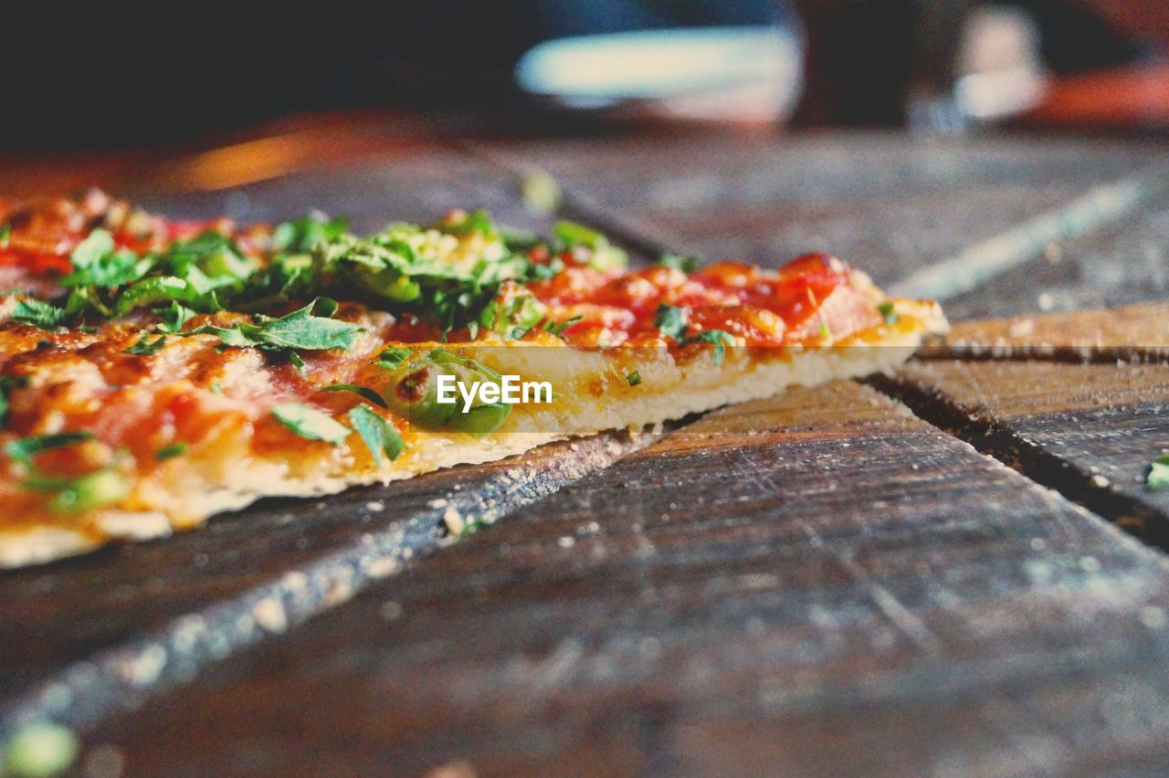 Close-Up Of Pizza Slice