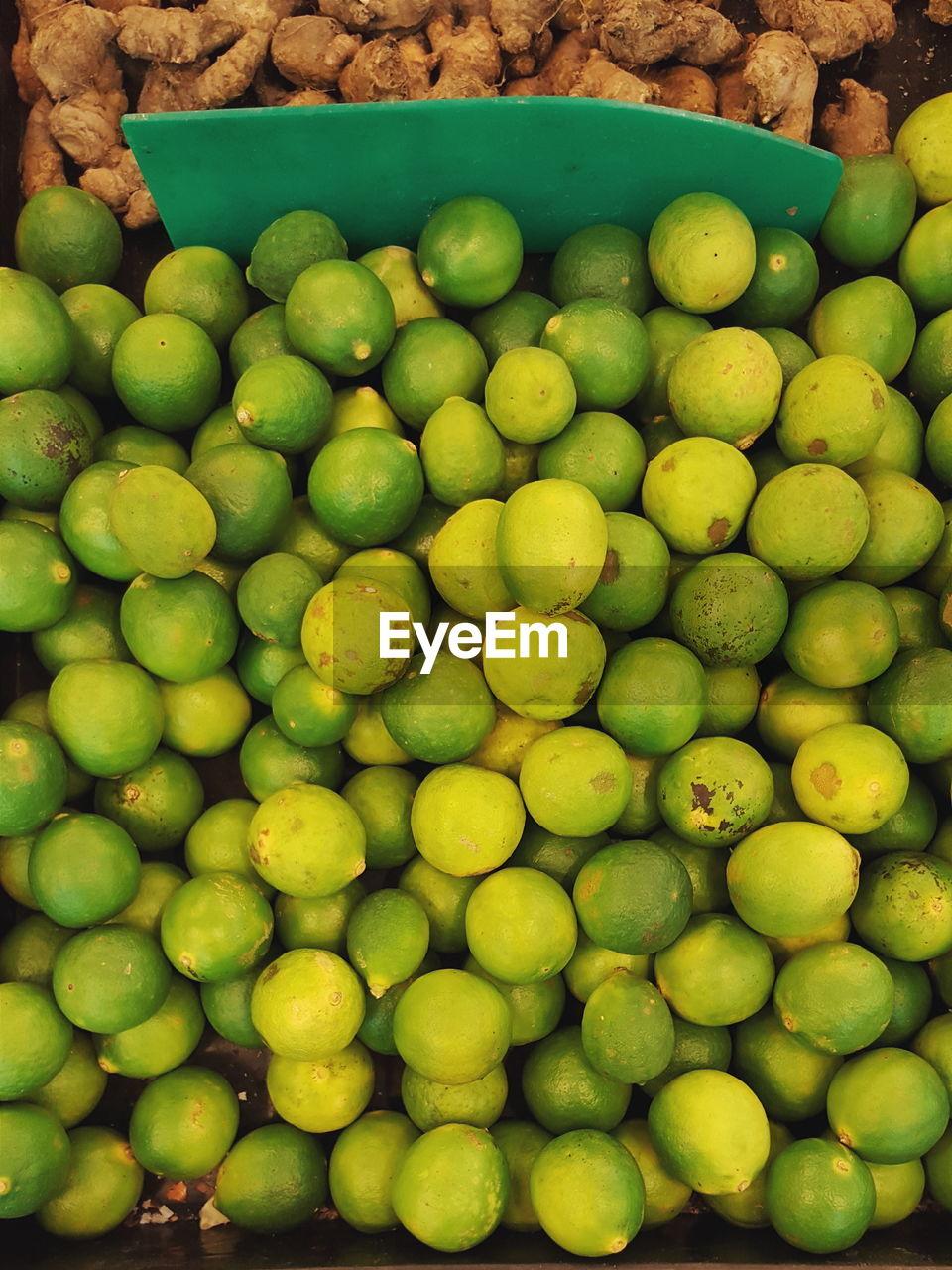 High Angle View Of Lemon And Ginger