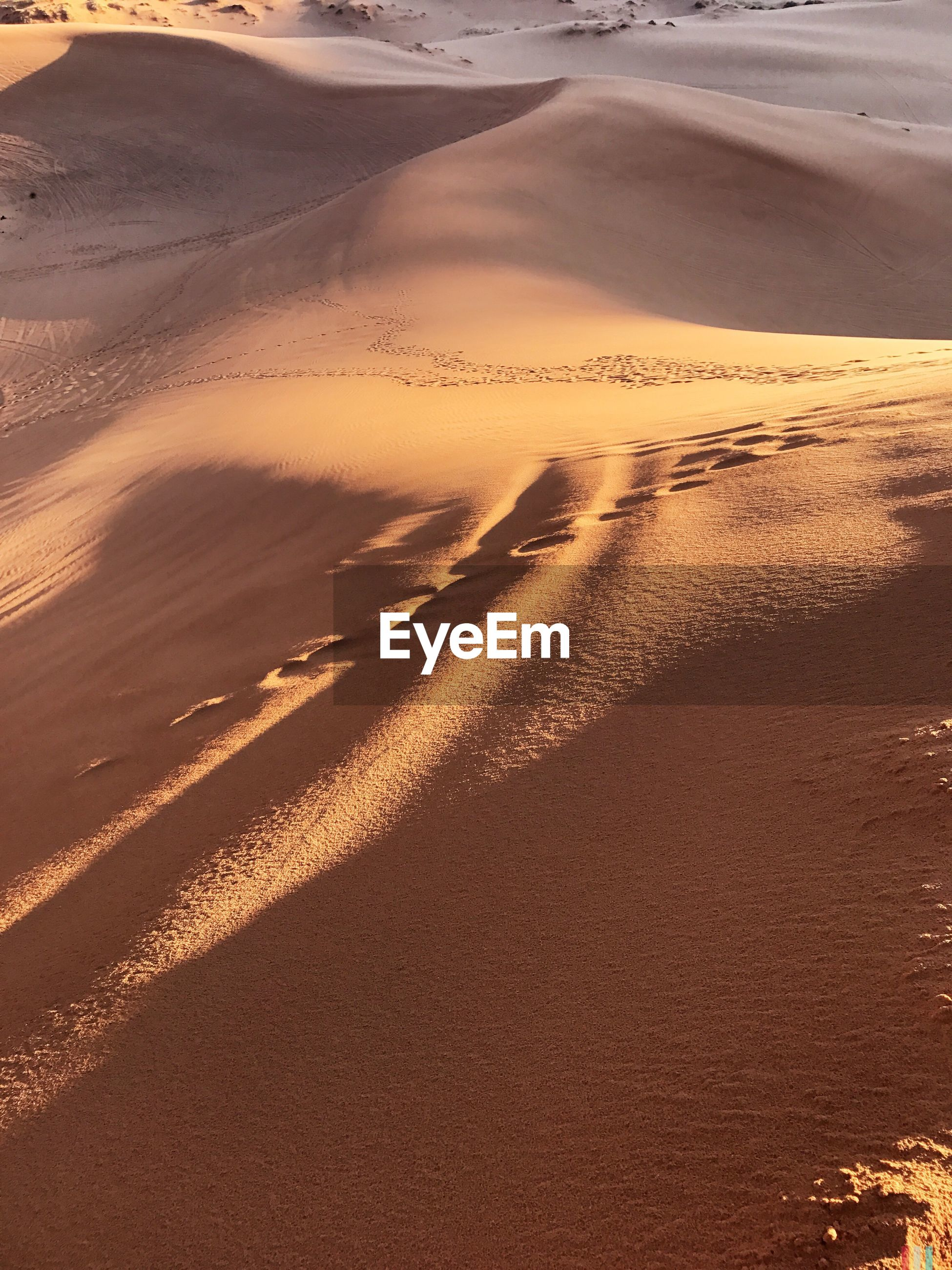 AERIAL VIEW OF DESERT AT SUNSET