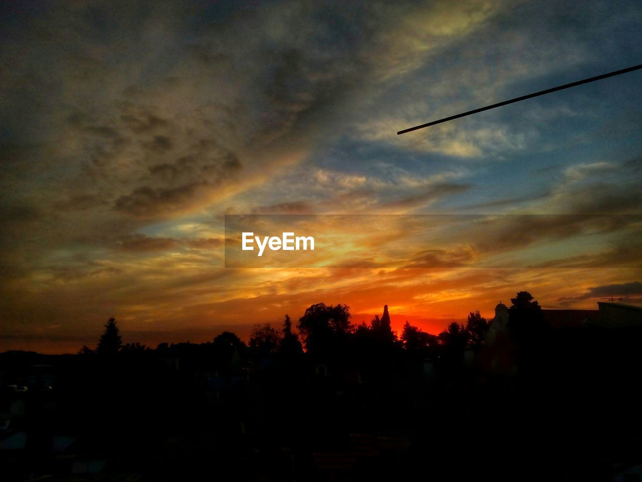 sunset, silhouette, sky, nature, no people, beauty in nature, tree, outdoors, city
