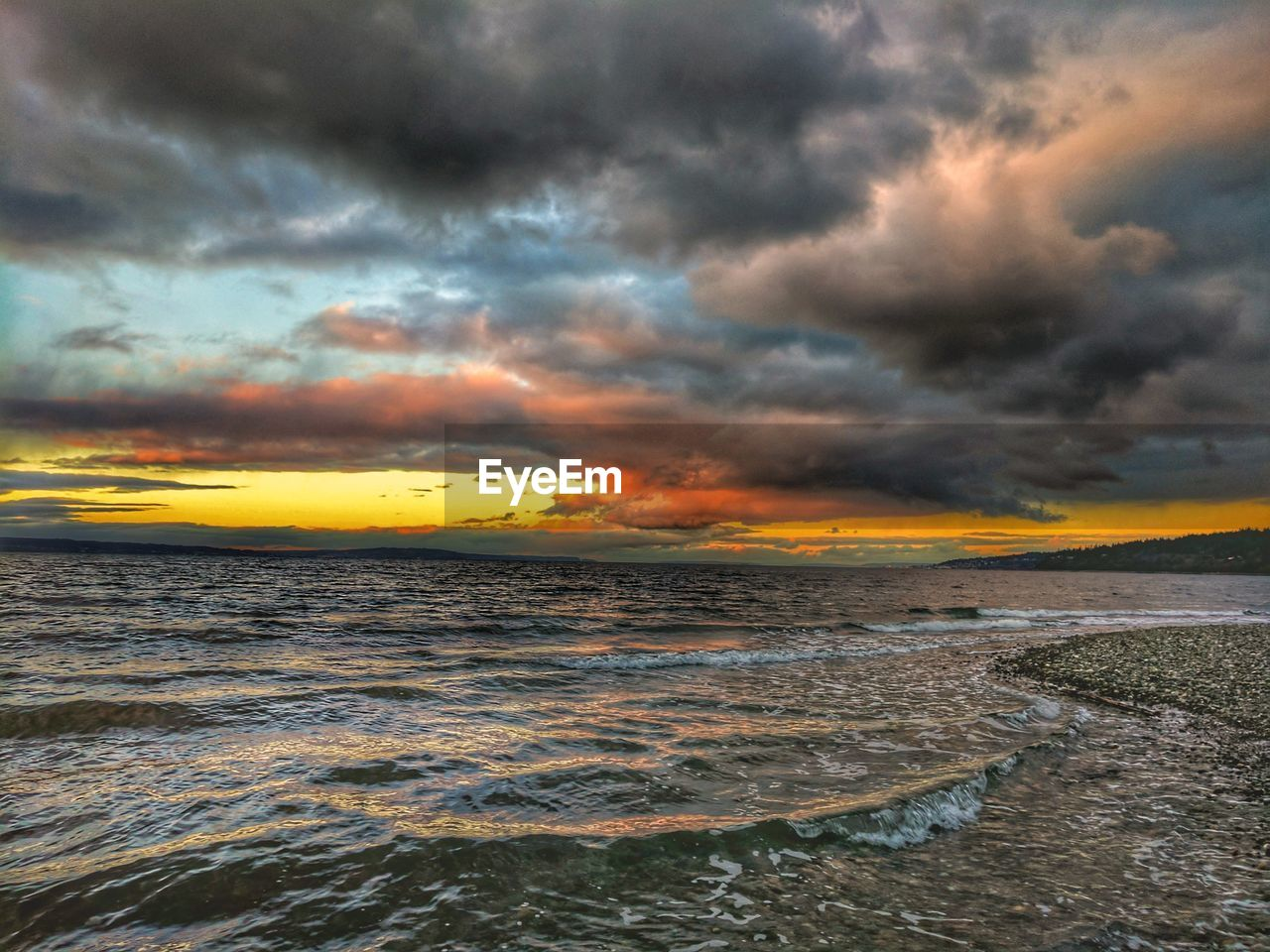 VIEW OF DRAMATIC SKY OVER SEA