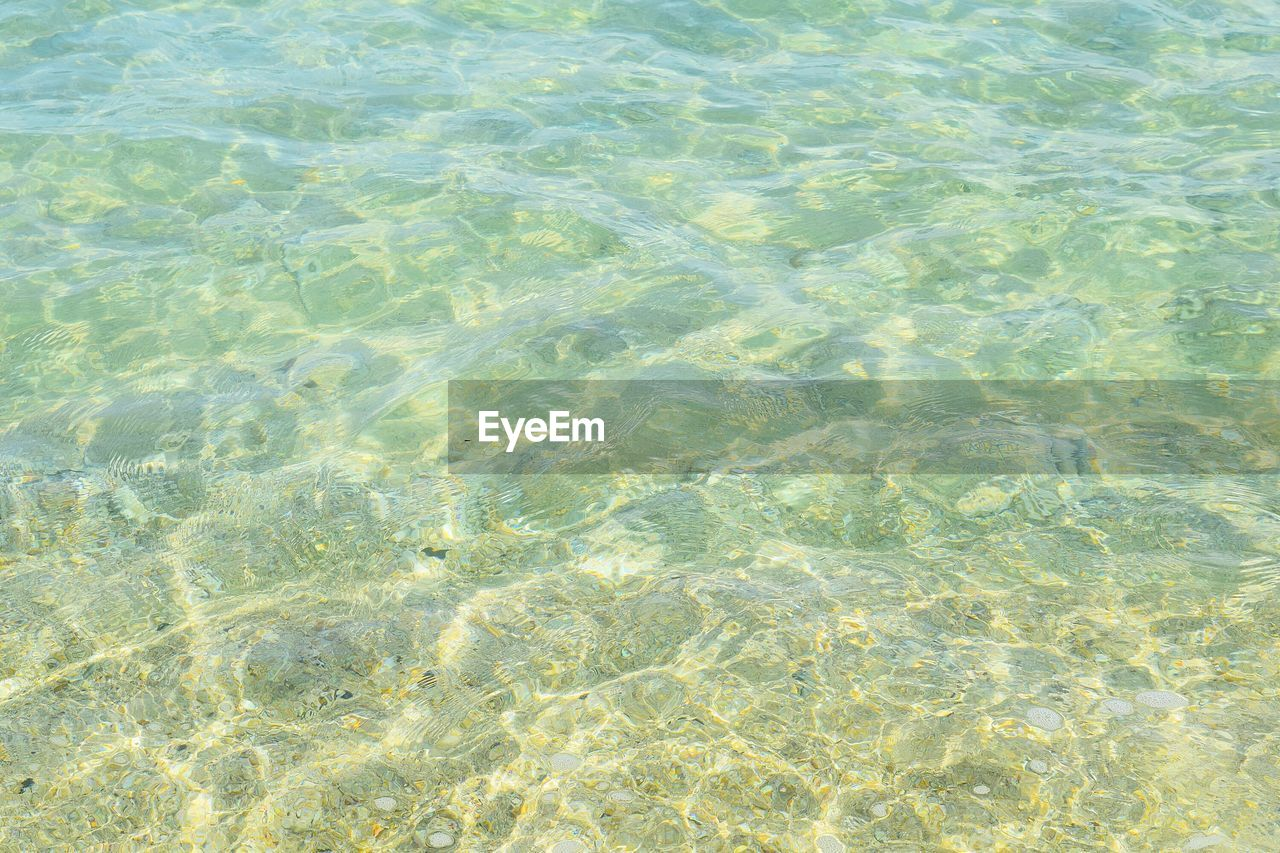 backgrounds, full frame, no people, high angle view, rippled, day, water, nature, waterfront, outdoors, pattern, shallow, beauty in nature, sunlight, refraction