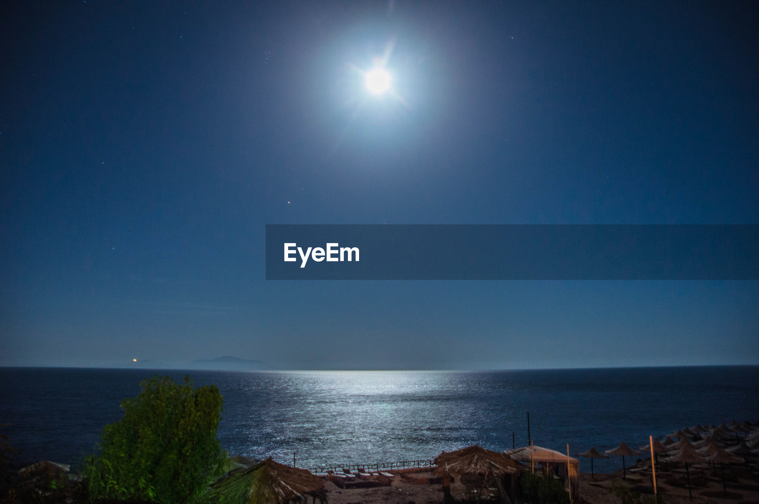 sea, nature, beauty in nature, scenics, sky, astronomy, no people, clear sky, water, horizon over water, moon, outdoors, night, star - space, galaxy
