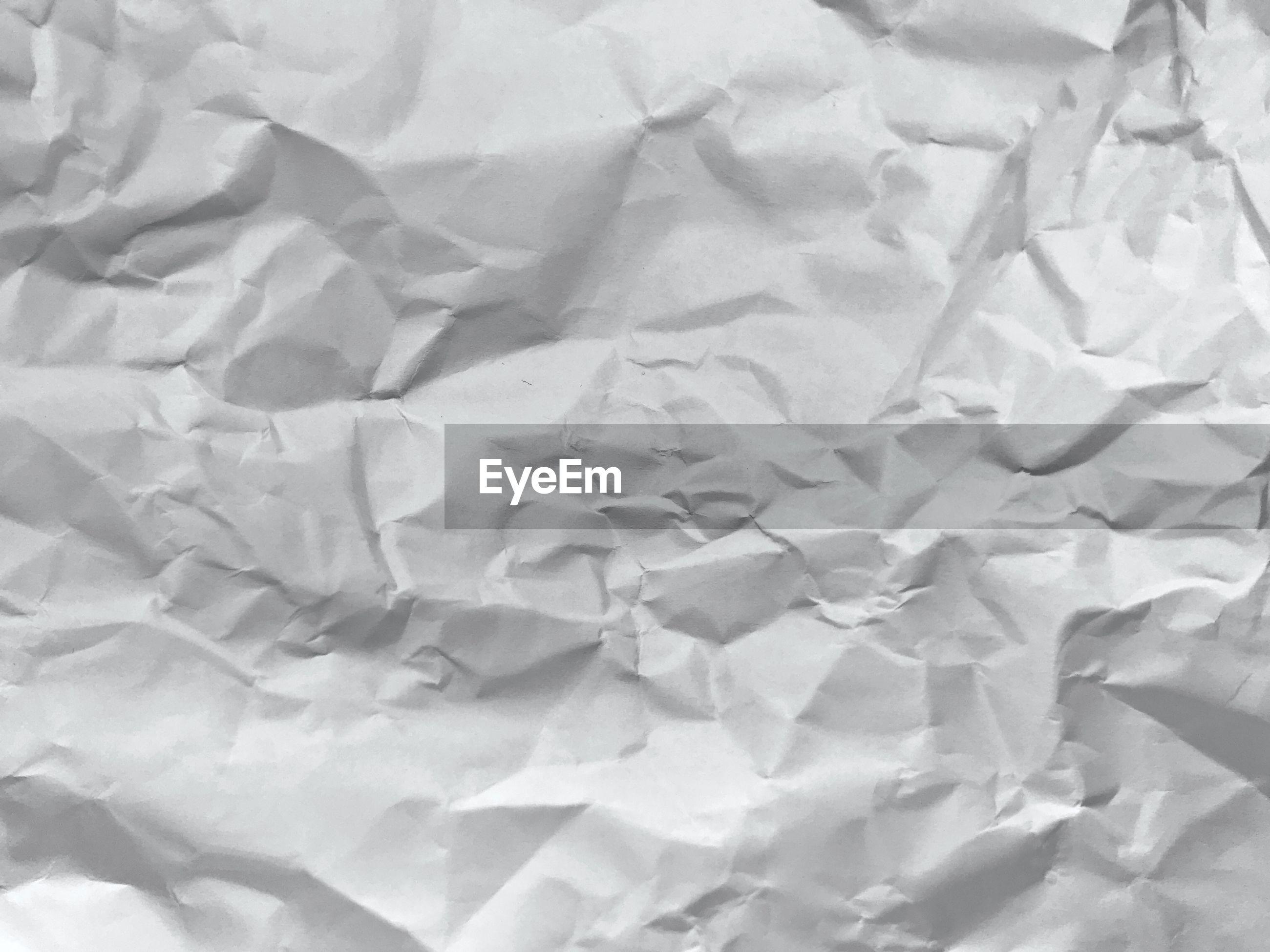 Full frame shot of crumpled paper