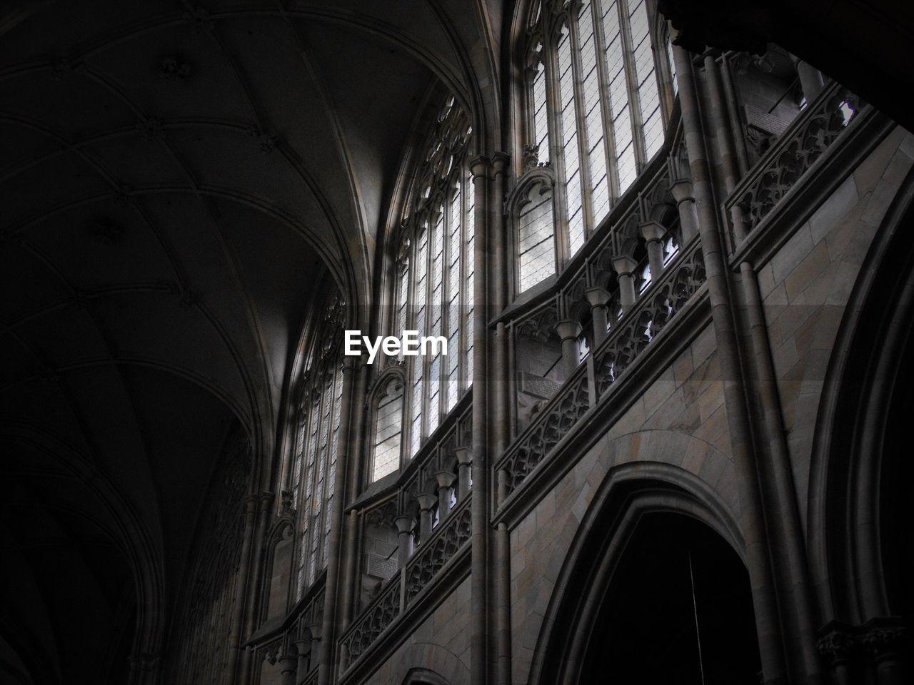 Low angle view of church windows
