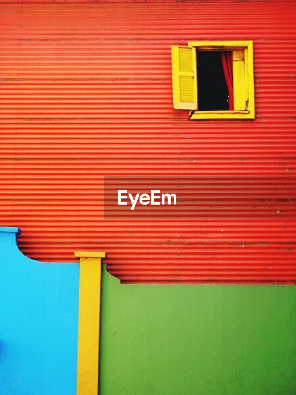 red, wall - building feature, built structure, building exterior, day, architecture, vibrant color, no people, yellow, outdoors, multi colored, close-up