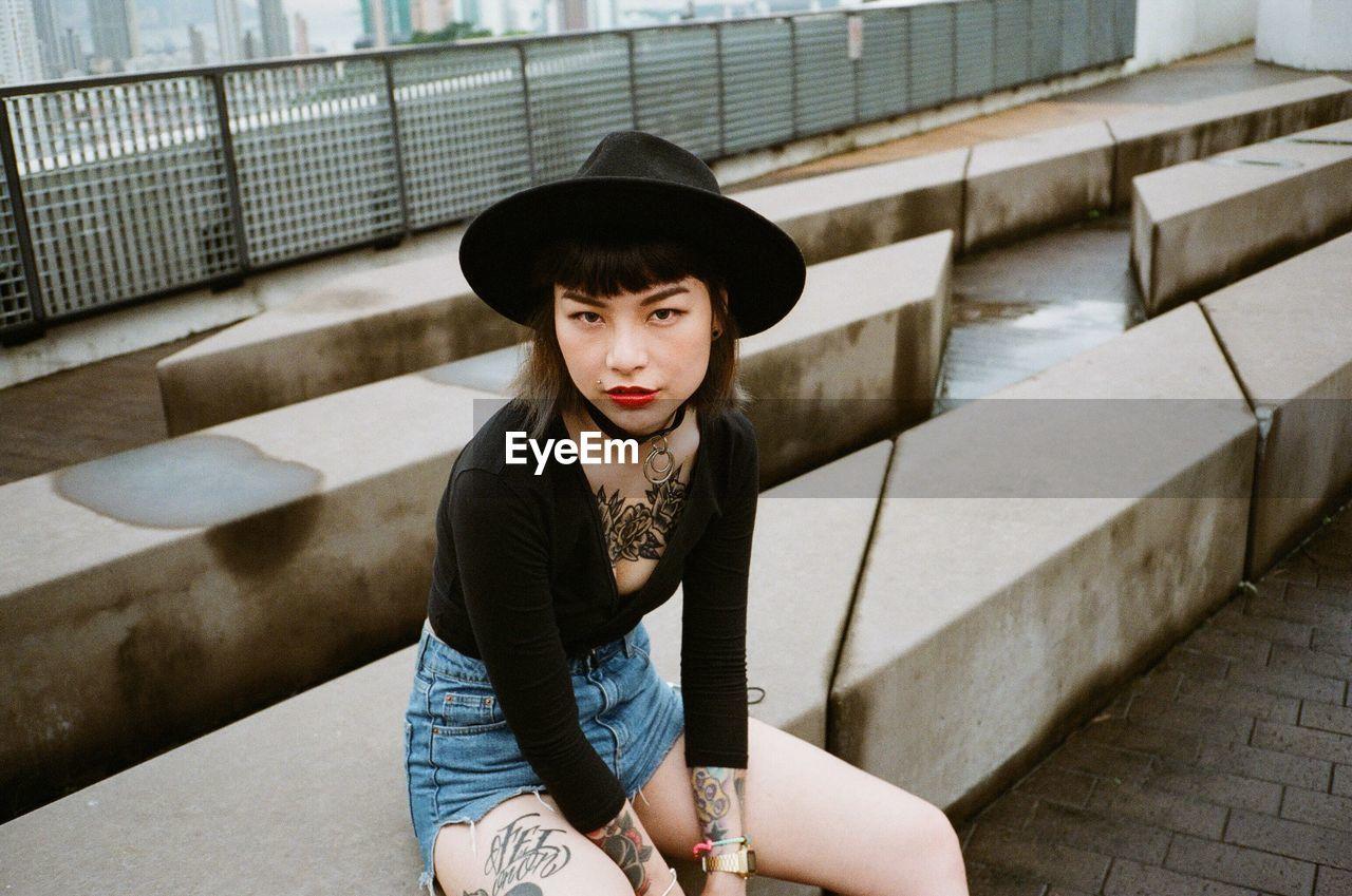 Portrait Of Woman In Hat