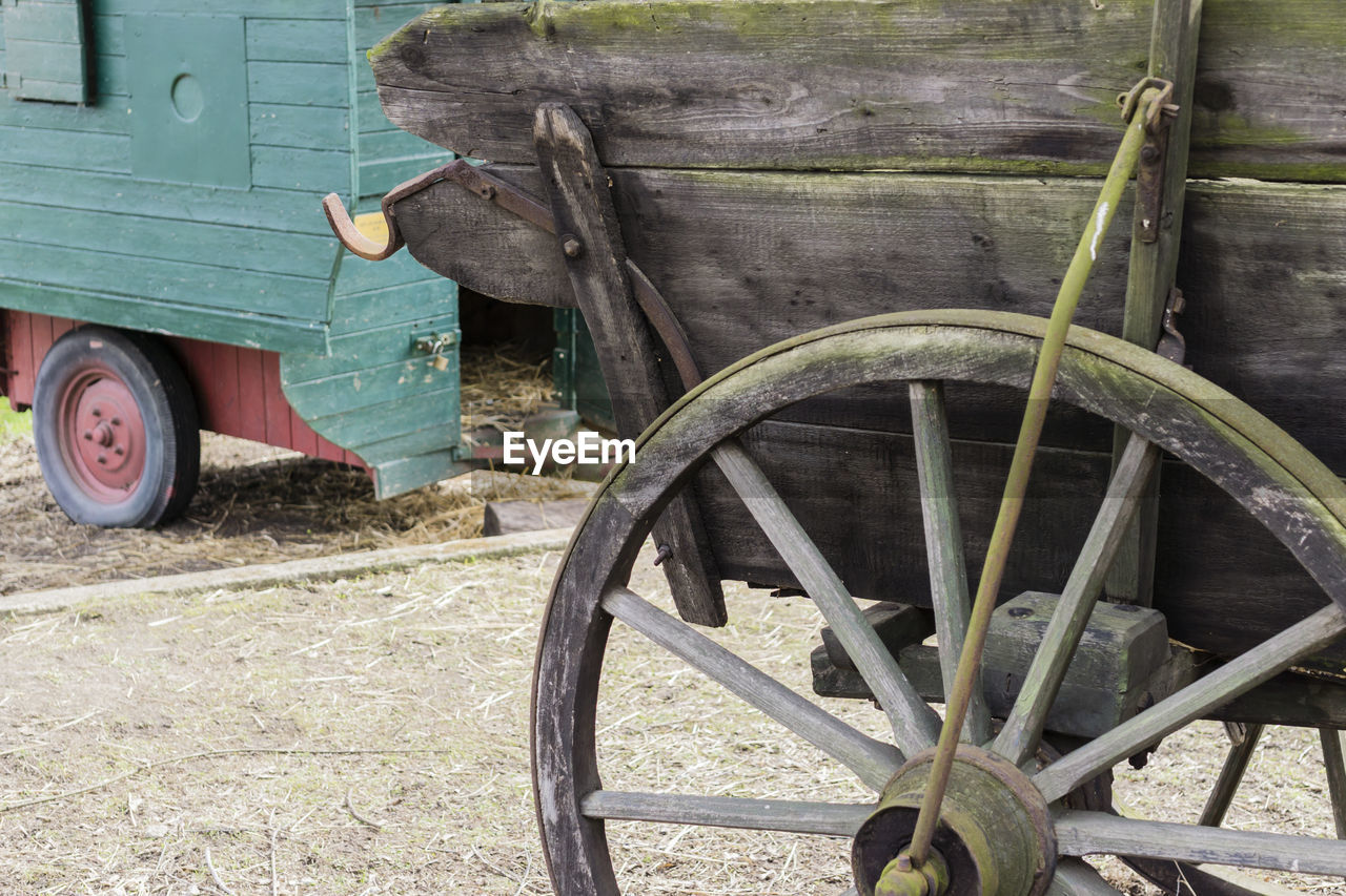 Horse Cart At Farm