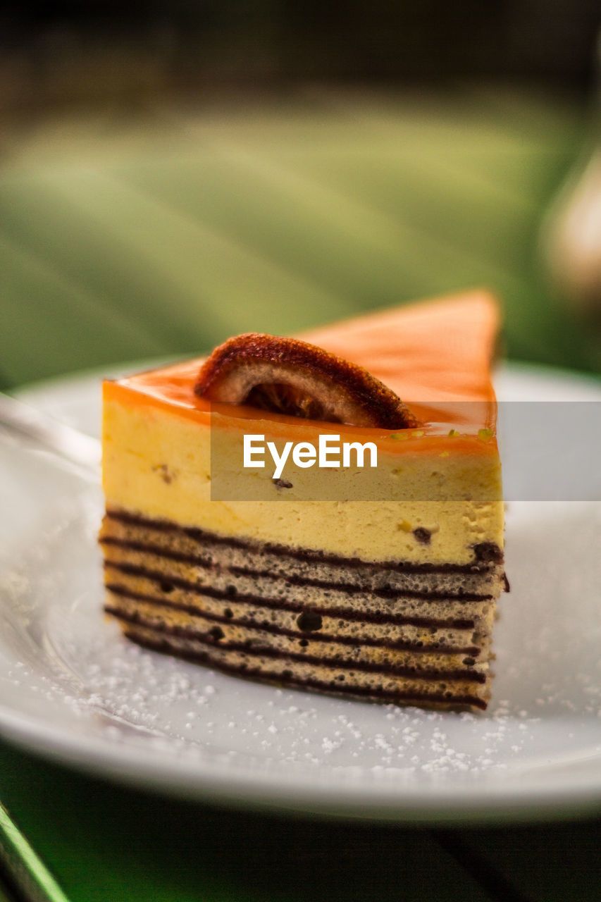 plate, sweet food, cake, dessert, food and drink, indulgence, temptation, food, slice, freshness, ready-to-eat, table, close-up, indoors, no people, cheesecake, unhealthy eating, sponge cake, tart - dessert, pastry, gelatin dessert, day