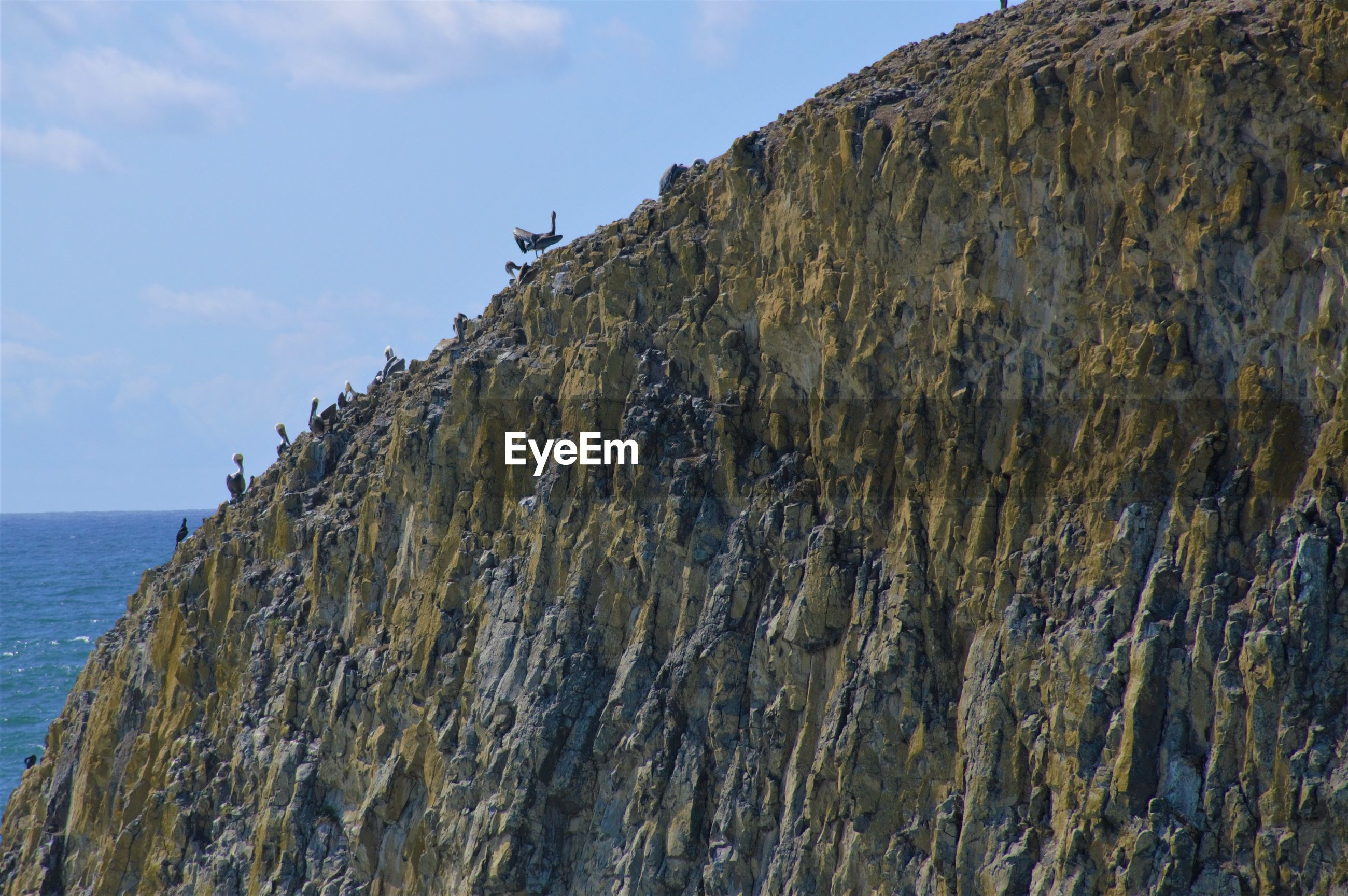 Scenic view of basalt against sky