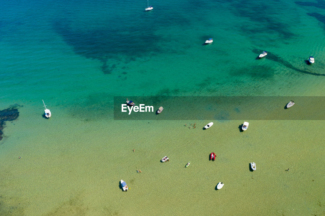 Aerial view of a beach and the sea on the pasman island, croatia