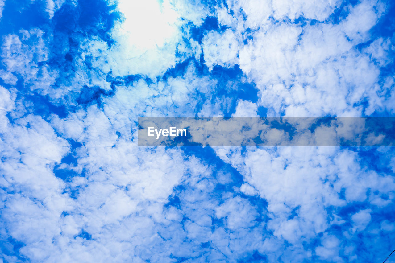 blue, backgrounds, cloud - sky, full frame, beauty in nature, nature, sky, cloudscape, white color, sky only, no people, tranquility, low angle view, scenics, day, outdoors, close-up