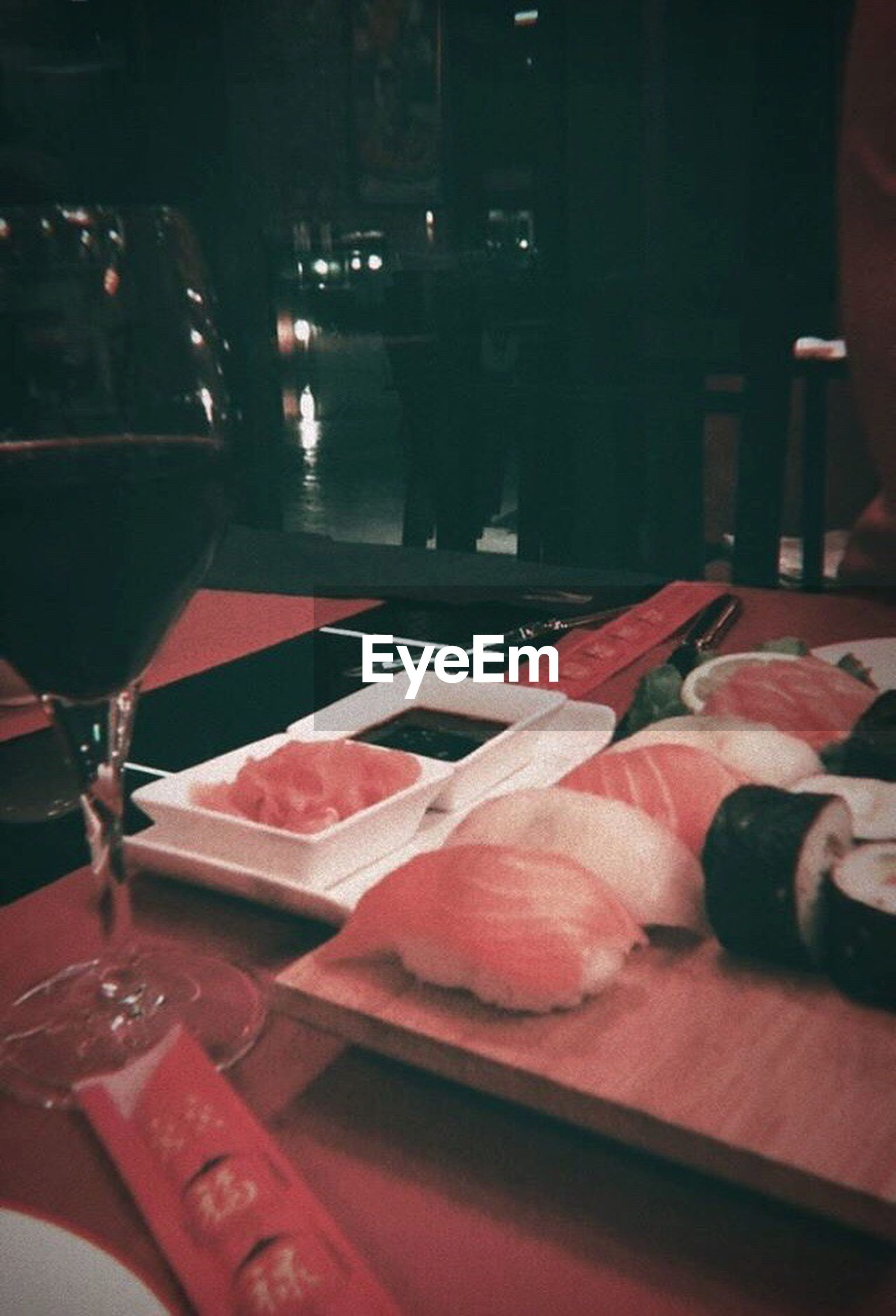 food and drink, food, table, still life, indoors, restaurant, meat, freshness, plate, no people, slice, serving size, healthy eating, close-up, night, ready-to-eat