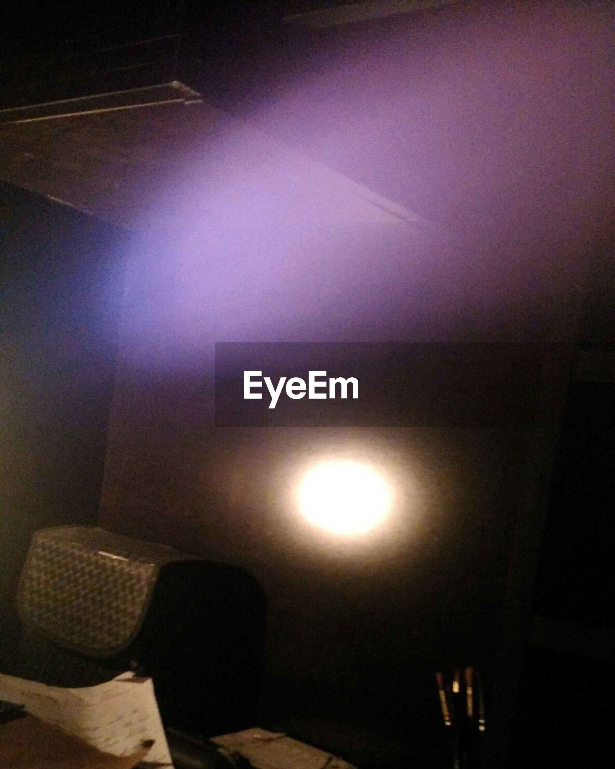 indoors, illuminated, lighting equipment, electricity, home interior, light - natural phenomenon, low angle view, glowing, electric lamp, ceiling, no people, lamp, electric light, dark, wall - building feature, close-up, light, built structure, lit, night