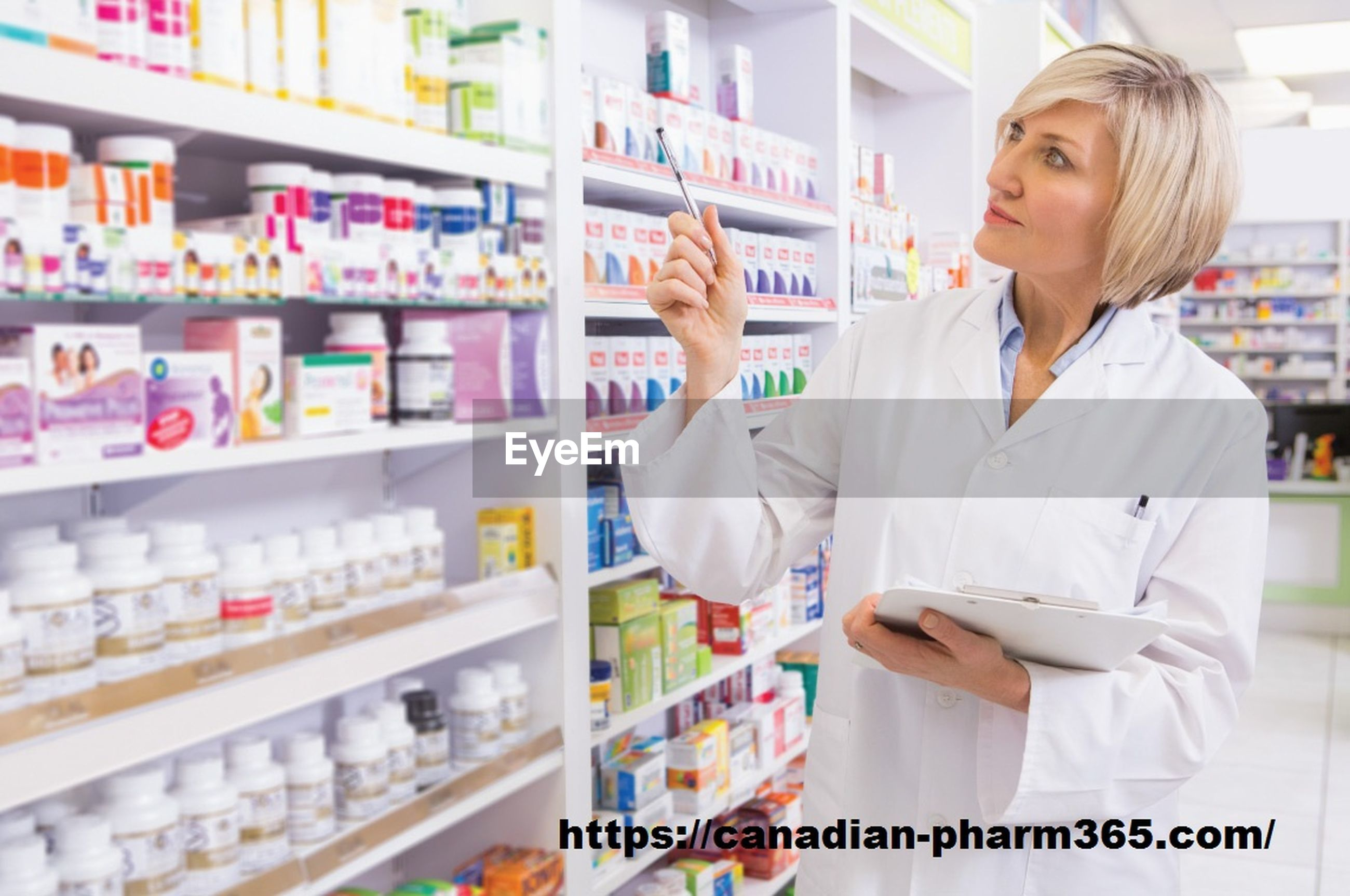 shelf, healthcare and medicine, pharmacy, lab coat, indoors, choice, retail, medicine, store, wellbeing, occupation, one person, bottle, expertise, prescription medicine, women, holding, beautiful woman, standing, working, real people, blond hair, day, adult, people