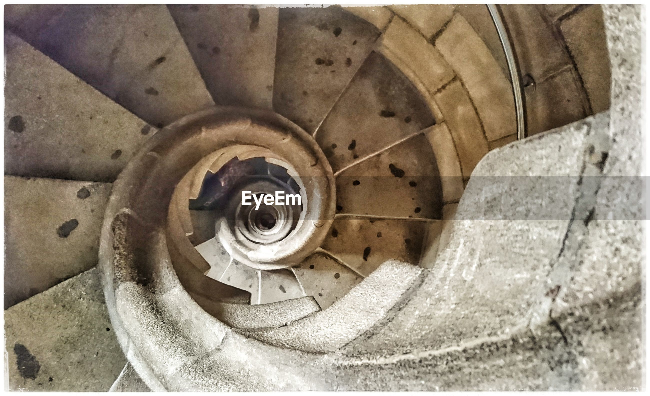 spiral, steps and staircases, staircase, built structure, railing, architecture, steps, backgrounds, no people, close-up, day