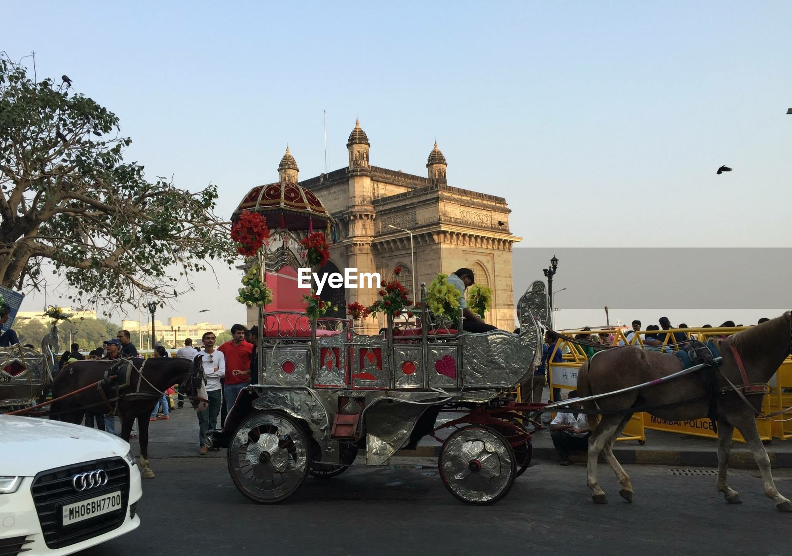 transportation, mode of transport, land vehicle, bicycle, clear sky, riding, stationary, parked, car, street, men, parking, road, motorcycle, travel, lifestyles, tree, architecture, building exterior