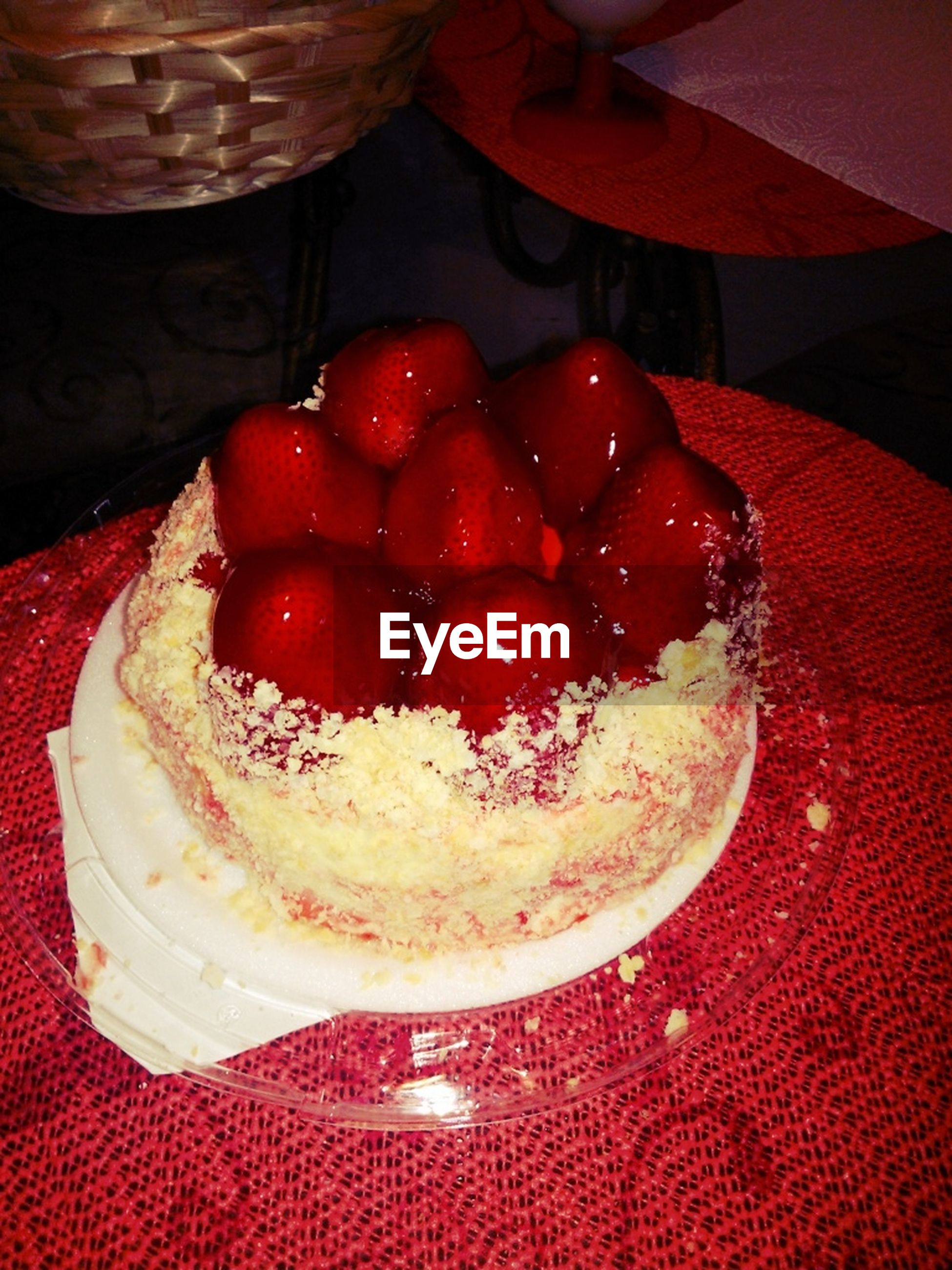 food and drink, food, freshness, indoors, red, sweet food, strawberry, fruit, dessert, still life, ready-to-eat, indulgence, table, healthy eating, close-up, temptation, high angle view, raspberry, cake