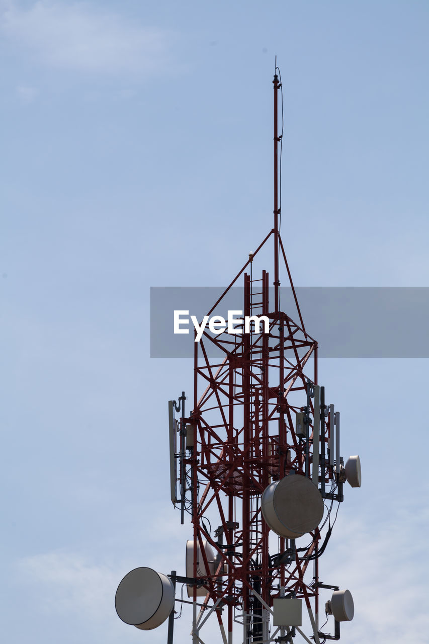 sky, communication, satellite, low angle view, metal, architecture, satellite dish, no people, technology, built structure, tower, antenna - aerial, nature, global communications, connection, broadcasting, day, tall - high, wireless technology, outdoors, electrical equipment, radio wave