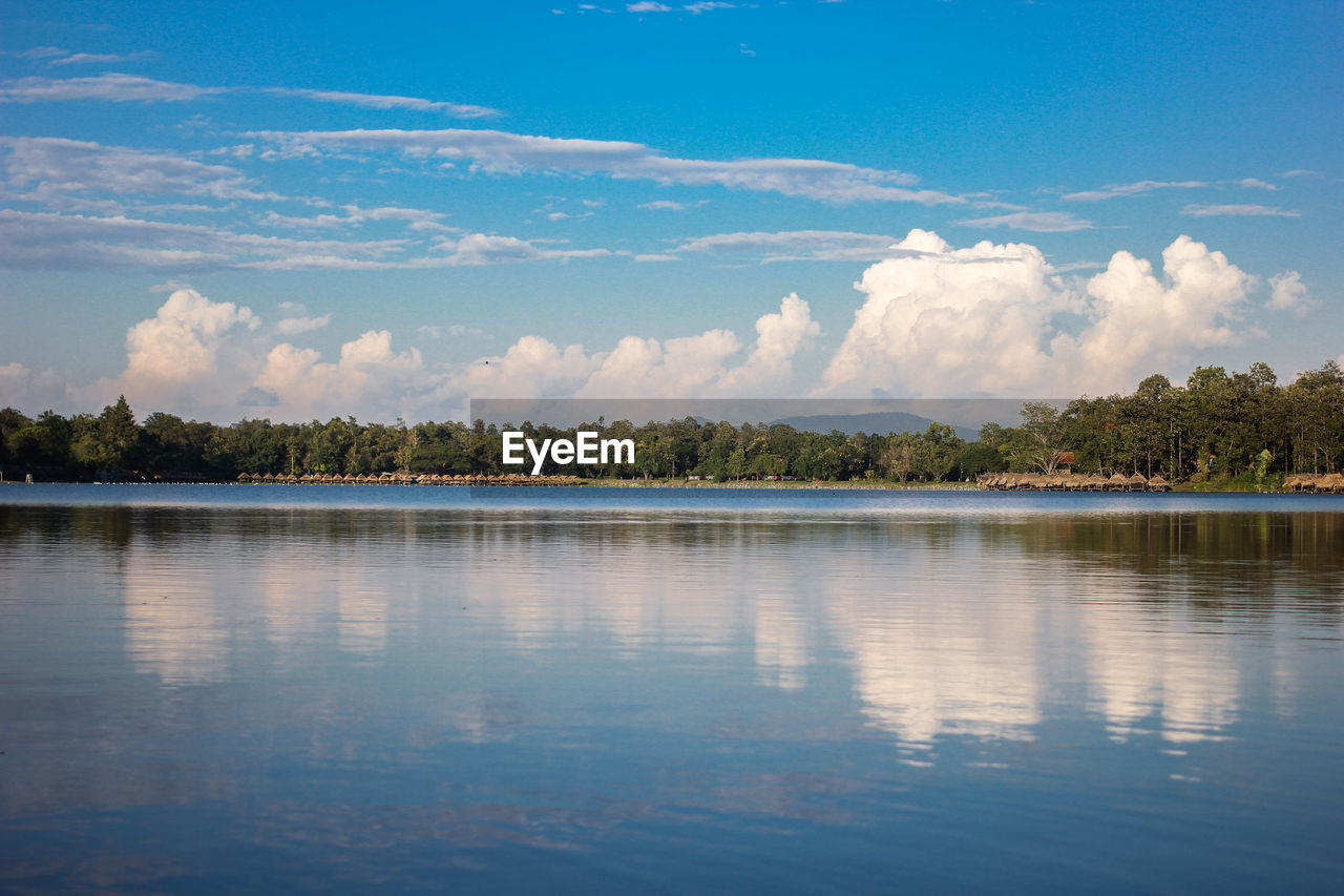 water, sky, cloud - sky, tranquil scene, scenics - nature, beauty in nature, tranquility, reflection, lake, tree, waterfront, plant, nature, day, non-urban scene, no people, idyllic, outdoors