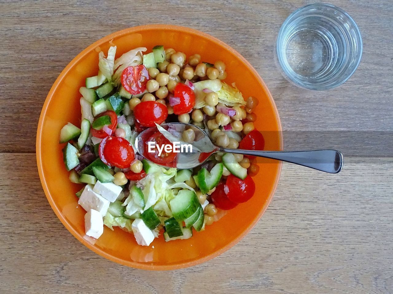 food and drink, healthy eating, freshness, food, bowl, high angle view, no people, vegetable, drinking glass, directly above, drink, table, indoors, day, close-up, ready-to-eat