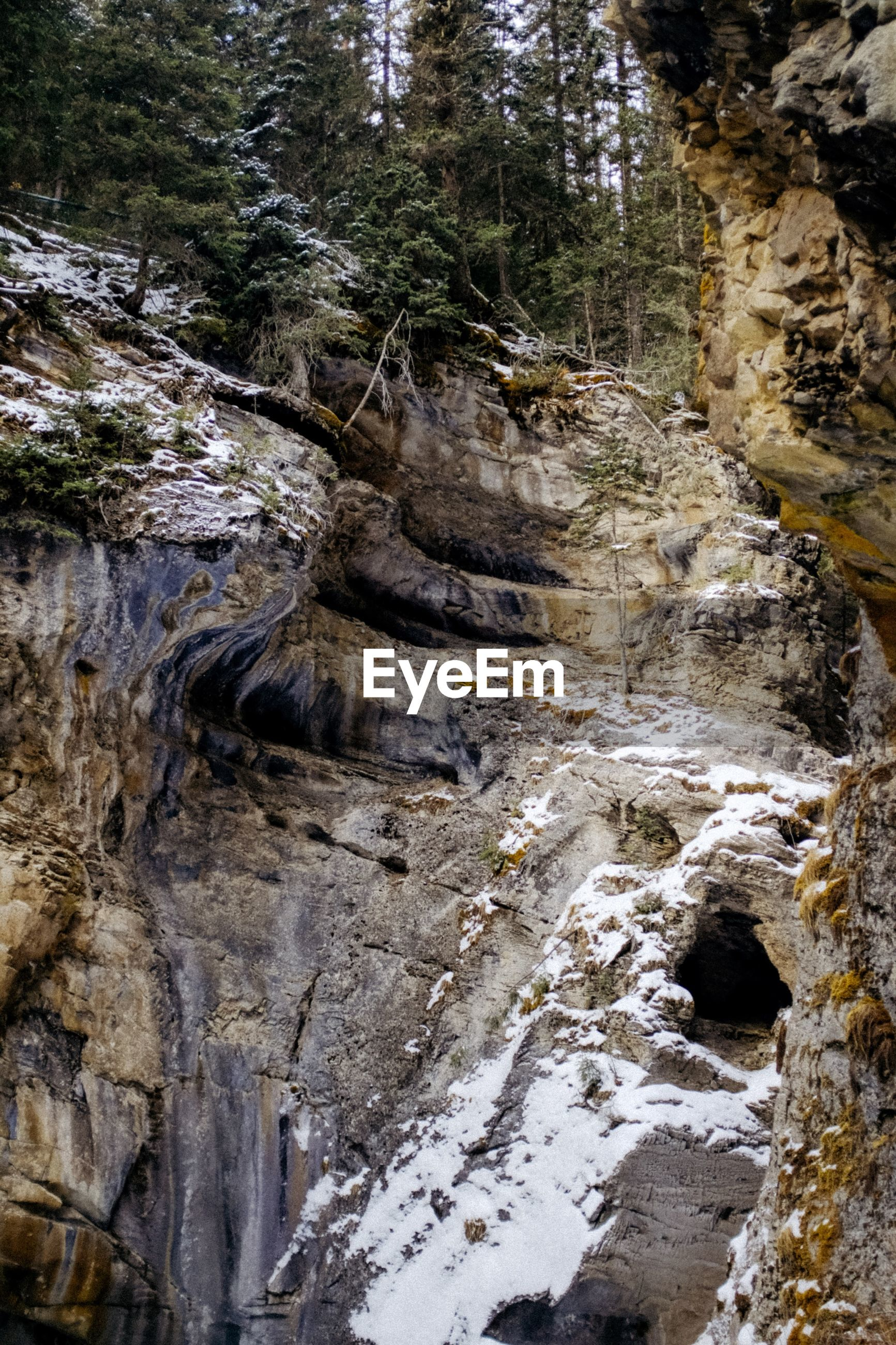 waterfall, rock - object, nature, rock formation, scenics, river, rapid, no people, mountain, water, beauty in nature, tree, outdoors, tranquility, motion, power in nature, day, forest, sky